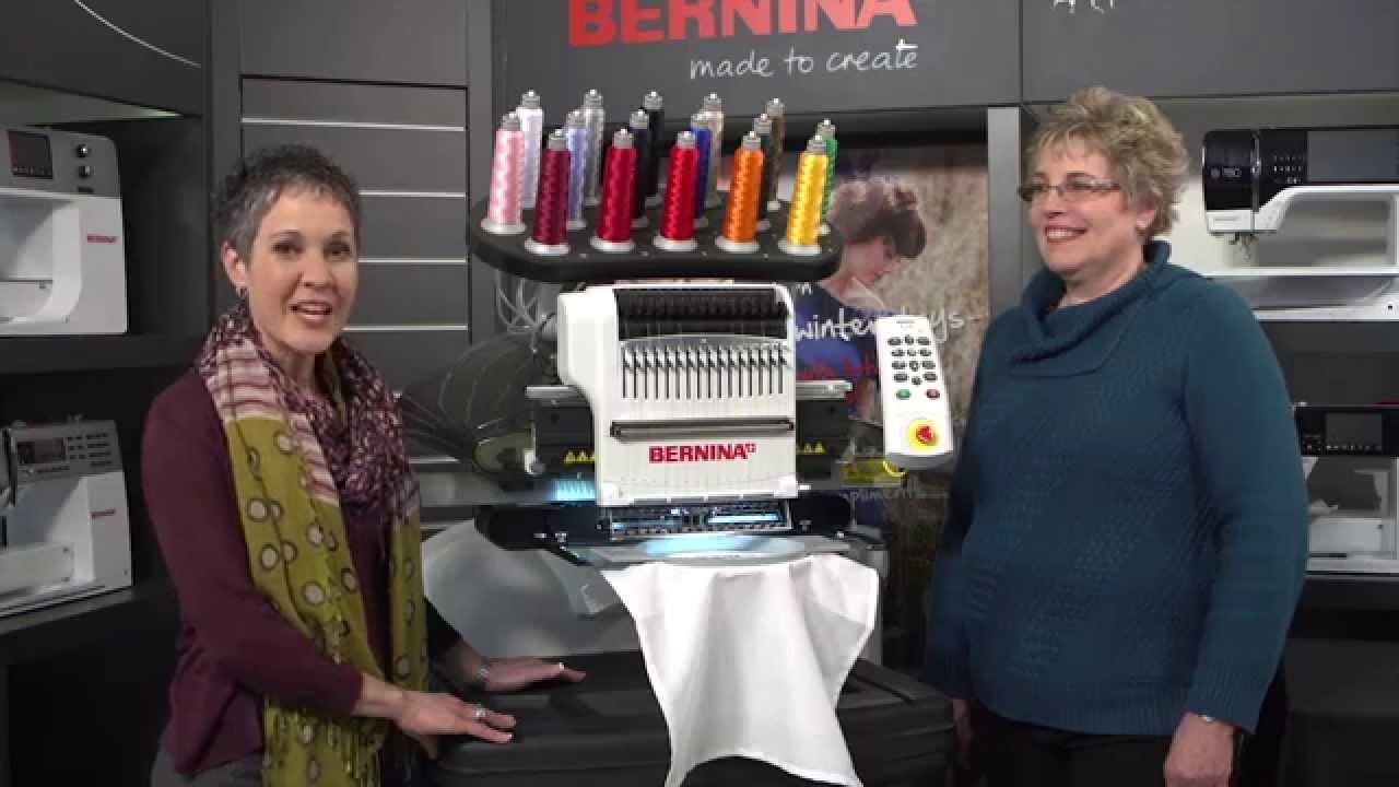 Introducing the BERNINA E 16 multi-needle embroidery machine