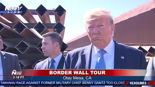 Trump holds press conference while touting new border wall