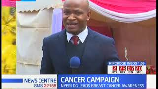 100 women to undergo cancer screening per day in Nyeri county as breast cancer campaign takes course