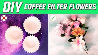 Before Making Coffee Filter Flowers...Watch This!