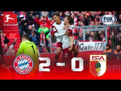 TUDO NORMAL NA LIDERANÇA! Melhores momentos de Bayen de Munique 2 x 0 Augsburg