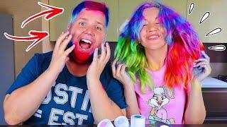 3 ЦВЕТА ВОЛОС ЧЕЛЛЕНДЖ 😱 3 Hair Color Challenge МЫ Рисуем ВЫ Голосуете НОВЫЙ 3 маркера челлендж