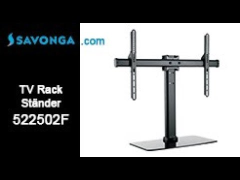 Savonga® 522502F TV Ständer Rack f. LED LCD TFT Fernsehständer 32-55 Zoll mit Glasfuß