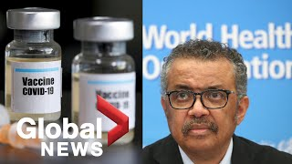 Coronavirus outbreak: WHO calls for COVID-19 vaccines to be classified as global public goods | FULL