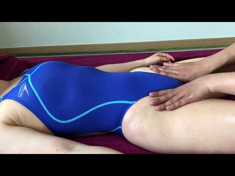 crotch Massage ASMR with blue swimsuit girl