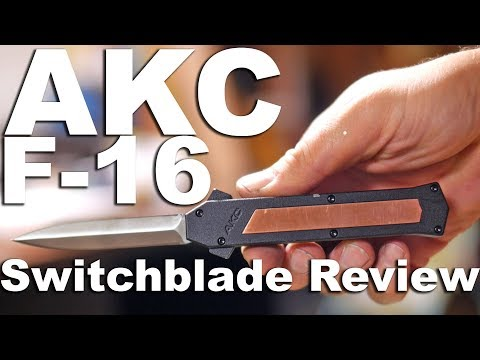 AKC F-16 Copper D/A OTF Automatic Knife - Bayo Satin Plain