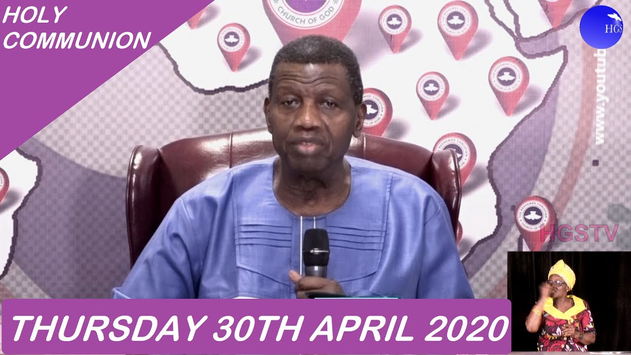 RCCG 30th April 2020 Holy Communion for the Month of May 2020