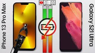 Apple iPhone 13 Pro Max vs Samsung Galaxy S21 Ultra Battery Test