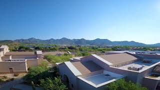 Cinematic FPV drone footage of a church