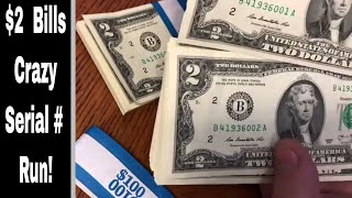 Searching $2 Bills   100 Consecutive Serial #'s?