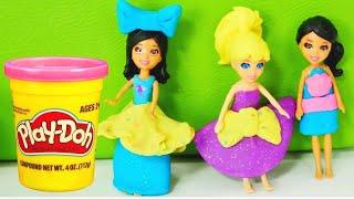Spielspaß mit Puppen in der PlayDoh Schule - Video für Kinder