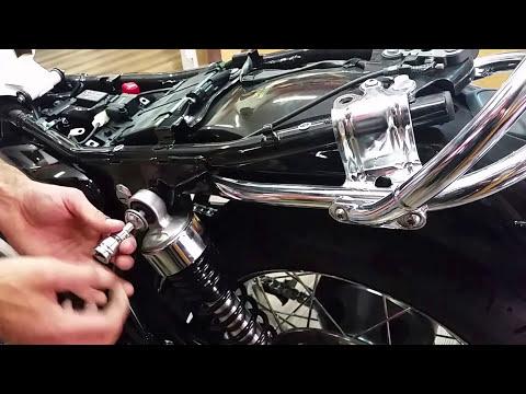 Montaggio staffa sgancio rapido per Triumph Bonneville 2016 - Ends Cuoio