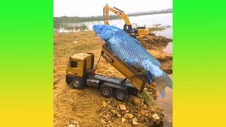 รถบรรทุกบังคับคันนี้กำลังช่วยเหลือชีวิตปลาอยู่ (รวมคลิปความพึงพอใจ )
