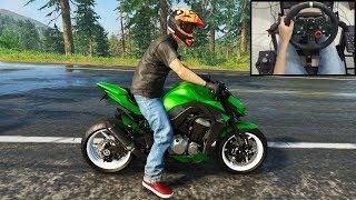 Kawasaki Z1000 ABS - The Crew 2 | Logitech g29 gameplay