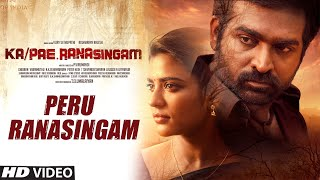 Peru Ranasingam Video Song | Ka Pae Ranasingam Tamil Movie | Vijay Sethupathi, Aishwarya R | Ghibran