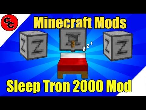 "Minecraft Mods:  ""Sleep Tron 2000 Mod 1.10.2"""