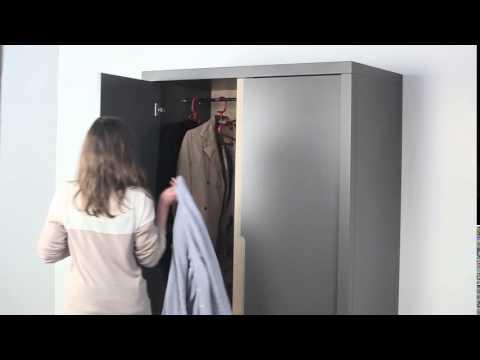 Kleiderschrank BOW Anthrazit grau