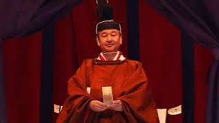 video: Japan emperor Naruhito proclaims ascension to throne in elaborate, centuries-old ceremony
