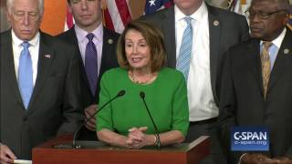 """Nancy Pelosi: """"Today is a great day for our country."""" (C-SPAN)"""