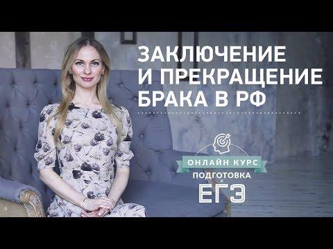 Заключение и прекращение брака в РФ