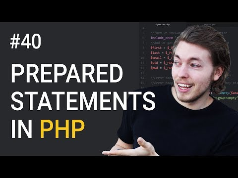 40: What are Prepared Statements and how to use them | PHP tutorial | Learn PHP programming