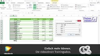 Excel 2013: Was-wäre-wenn-Analyse (2/2)