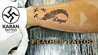 Feather Tattoo   Karan Tattoo Pune
