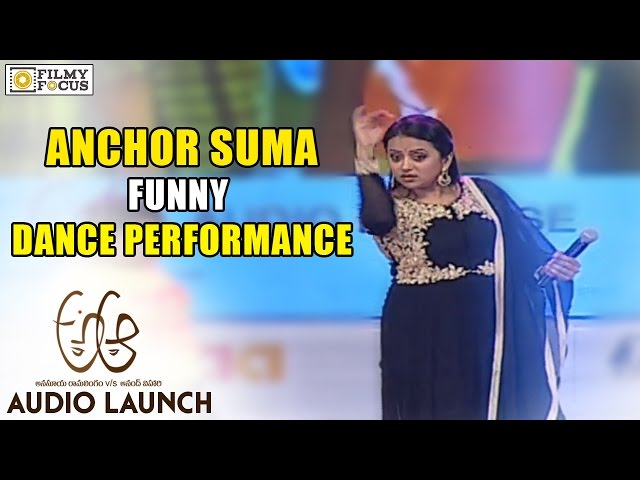 Suma Funny Dance Performance at A Aa Audio Launch – Nithin, Samantha