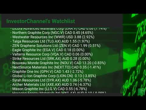 InvestorChannel's Graphite Watchlist Update for Tuesday, May, 11, 2021, 16:00 EST
