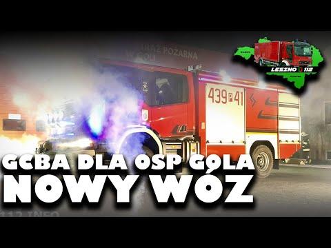 Wideo1: Przywitanie nowego wozu bojowego dla OSP w Goli