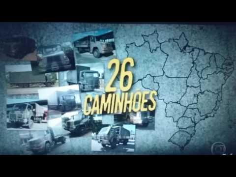 Reportagem, em Canguçu, sobre caminhões clonados