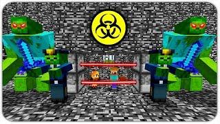 ПОБЕГ из ЗОМБИ ТЮРЬМЫ в МАЙНКРАФТ! КАК ВЫЖИТЬ НУБУ и ДЕВУШКЕ против 100.000 ЗОМБИ В Minecraft? #4