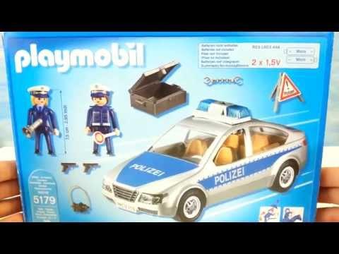 Playmobil Polizeiauto mit Blaulicht 5179 seratus1 auspacken unboxing