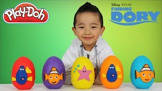 Disney Finding Dory Play-Doh Surprise Eggs Opening Fun With Ckn Toys Finding Nemo