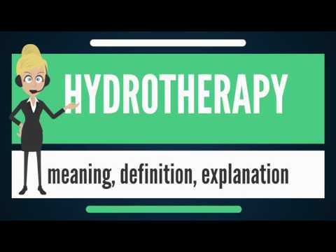 What is HYDROTHERAPY? What does HYDROTHERAPY mean? HYDROTHERAPY meaning & explanation
