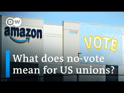 Amazon warehouse workers reject forming a union in Alabama | DW News