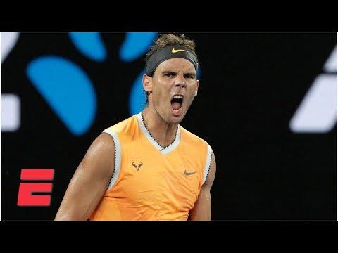 8fc48193 Rafael Nadal beats Stefanos Tsitsipas to advance to Aussie Open final | Australian  Open Highlights