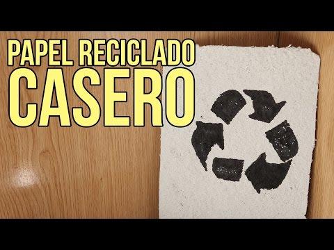 Cómo hacer papel reciclado casero (Experimentos Caseros)