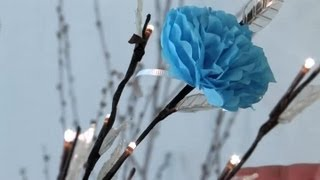 How to Decorate a Wedding Shower With Tissue Paper Flowers : Festive Decorations