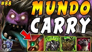 ALL THREE LANES LOST HARD! Carry & Win with UNKILLABLE MUNDO Jungle | Iron IV to Diamond Ep #88