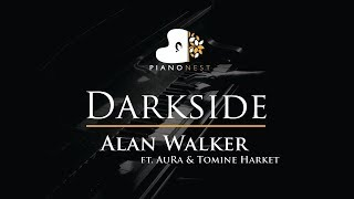 Alan Walker - Darkside (feat. AuRa and Tomine Harket) - Piano Karaoke / Sing Along Cover with Lyrics