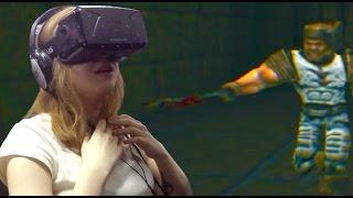 СЕТЕВАЯ ИГРА в Quake с Oculus Rift !!! Virtuality Club