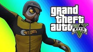 GTA 5 Online Funny Moments - No Gravity Flying Glitch!