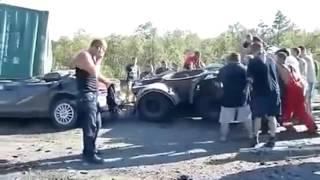 Жуткие аварии  Смерть на дороге  Жесть!!!
