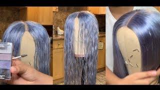 DIY Water Coloring 613 Hair | Icey Gray | Sam iam