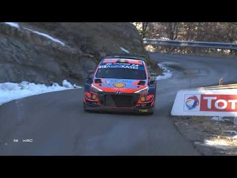 WRC2 2021 開幕戦のラリーモンテカルロ 日曜日のハイライト映像(2/2)