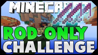 THE FISHING ROD ONLY CHALLENGE + DOUBLE HACKUSATORS! ( Hypixel Skywars )
