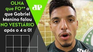 'Em clássico, meu sangue vira verde': Veja o que o Gabriel Menino falou após 4 a 0 do Palmeiras