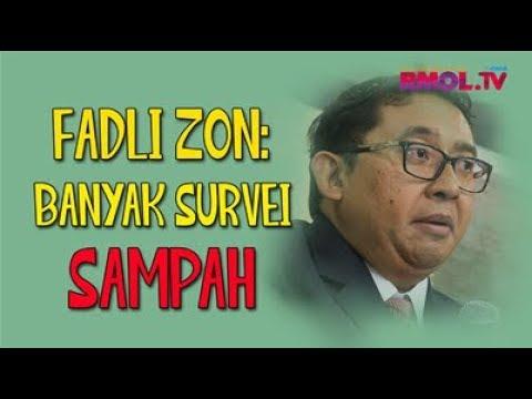 Fadli Zon: Banyak Survei Sampah