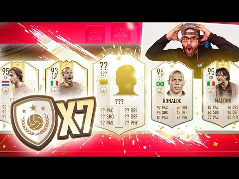 OMG MOST INSANE ICON DRAFT EVER!! FIFA 19 Ultimate Team!